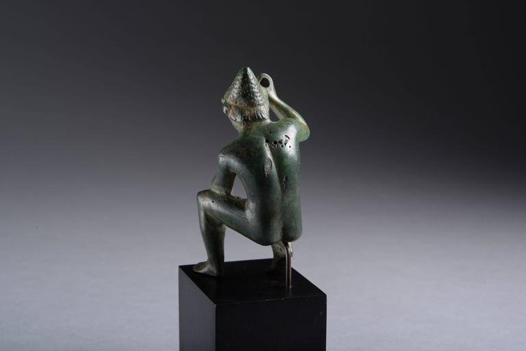 Ancient Greek Bronze Figure of Hephaistos, 400 BC In Excellent Condition For Sale In London, GB