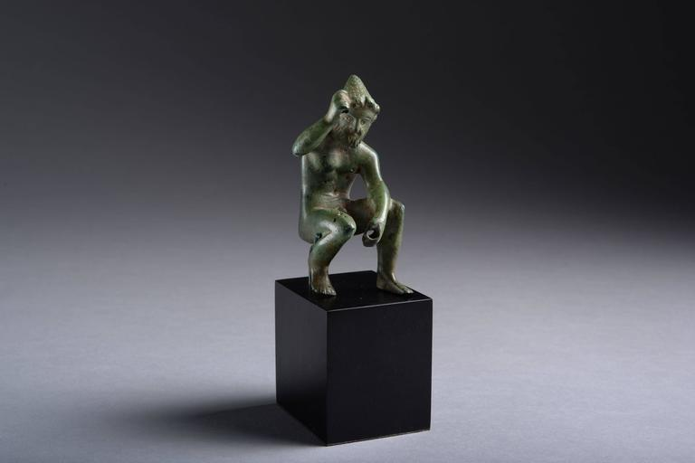 18th Century and Earlier Ancient Greek Bronze Figure of Hephaistos, 400 BC For Sale