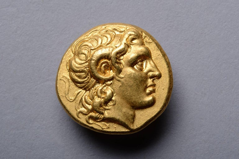 Classical Greek Ancient Greek Gold Stater Coin of Alexander the Great, 297 BC For Sale
