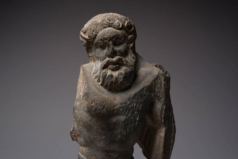 Ancient gandharan stone sculpture of atlas ad at stdibs