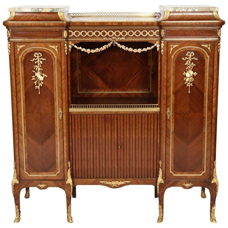 Inlaid Wood Music Cabinet By Fran Ois Linke For Sale At