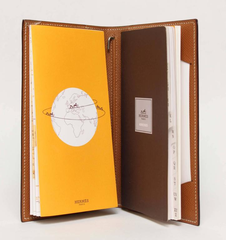 hermès leather address book for sale at 1stdibs