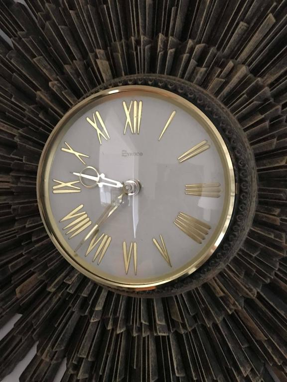 Syroco Starburst Wall Clock For Sale At 1stdibs
