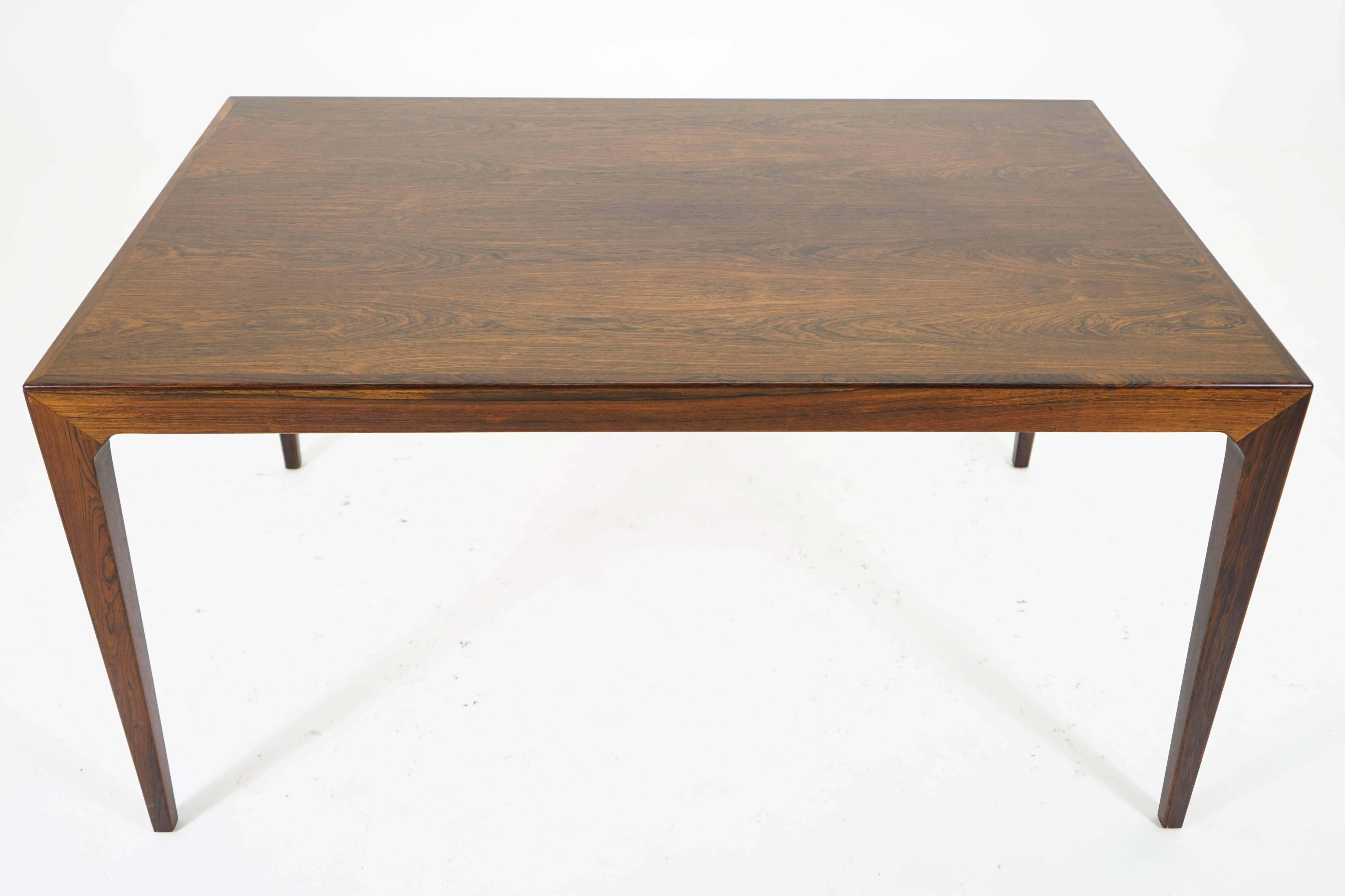 Mid Century Modern Extending Dining Table By Kai Winding For Sale