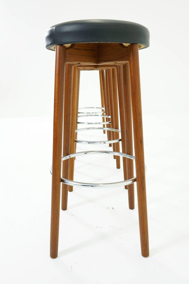 Teak Bar Stools Set Of Four For Sale At 1stdibs