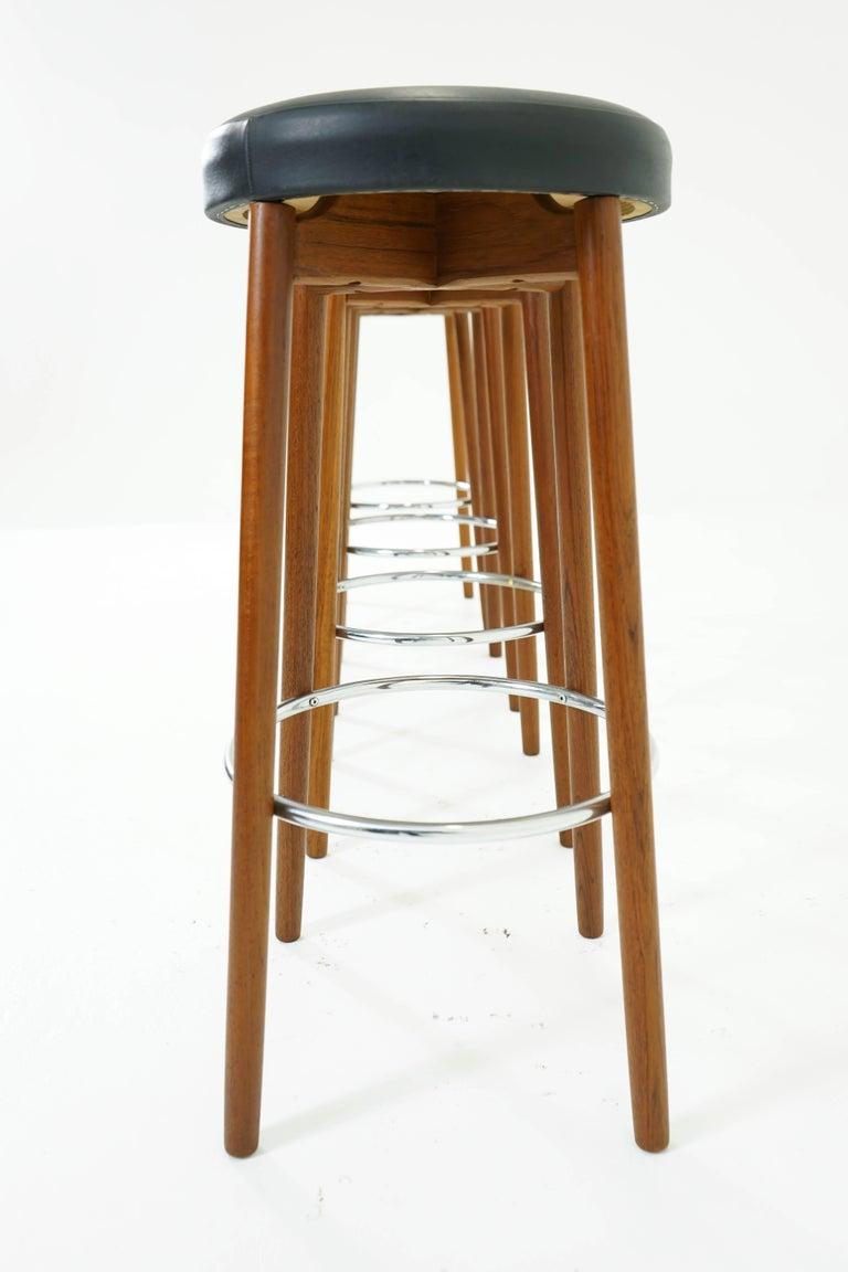 Teak bar stools set of four for sale at stdibs