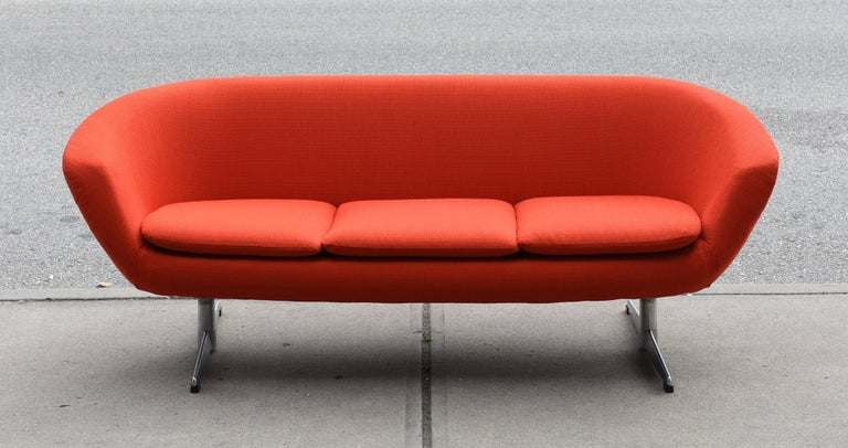 Overman Three Seat Sofa And Easy Chair At 1stdibs