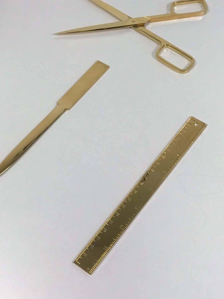 20th Century Asprey Gold Desk Set For Sale