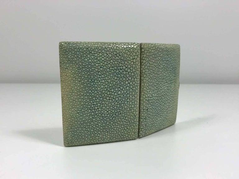 Art Deco Shagreen Cigarette Case For Sale