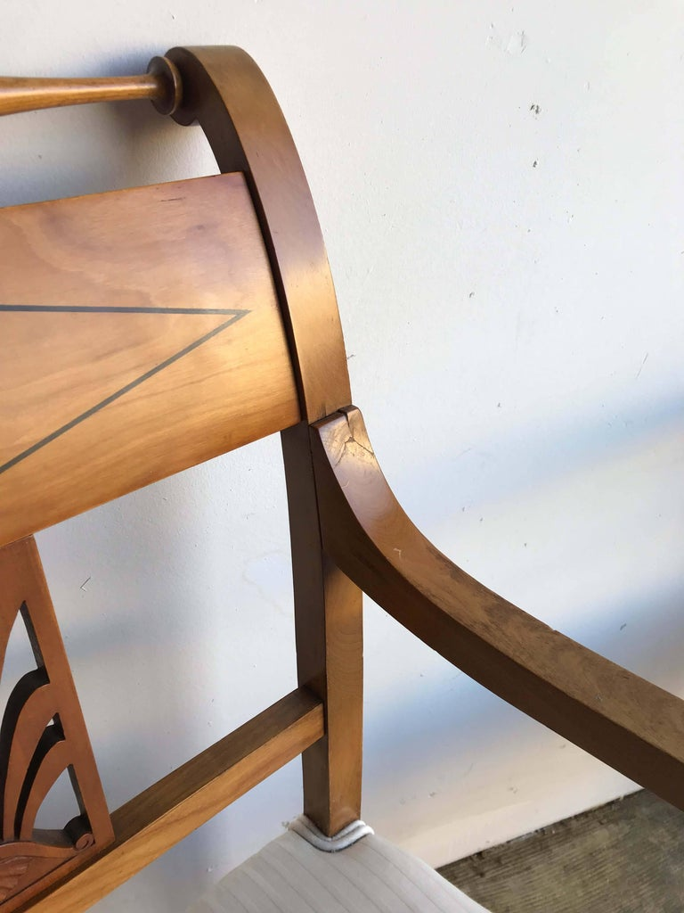 Pair Of Biedermeier Style Armchairs For Sale At 1stdibs