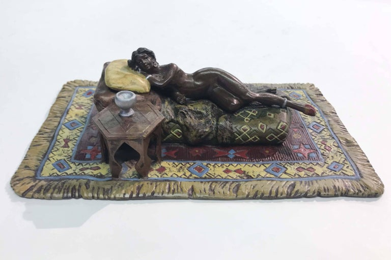 Erotic Austrian Cold Painted Bronze Figure In Good Condition For Sale In Vancouver, BC