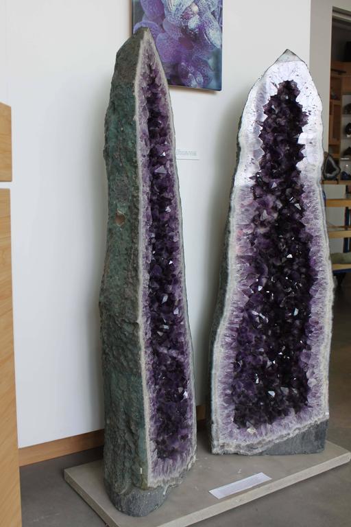monumental amethyst geode pair for sale at 1stdibs