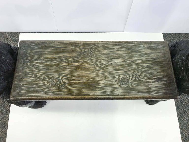 Black forest carved bear musical bench for sale at stdibs