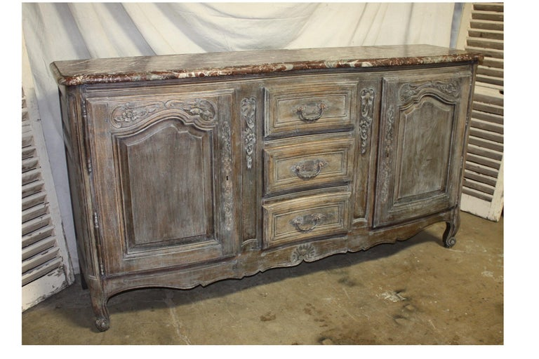 Early 19th century French sideboard with a beautiful royal marble top.