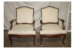 French 18th Century Pair of Armchairs