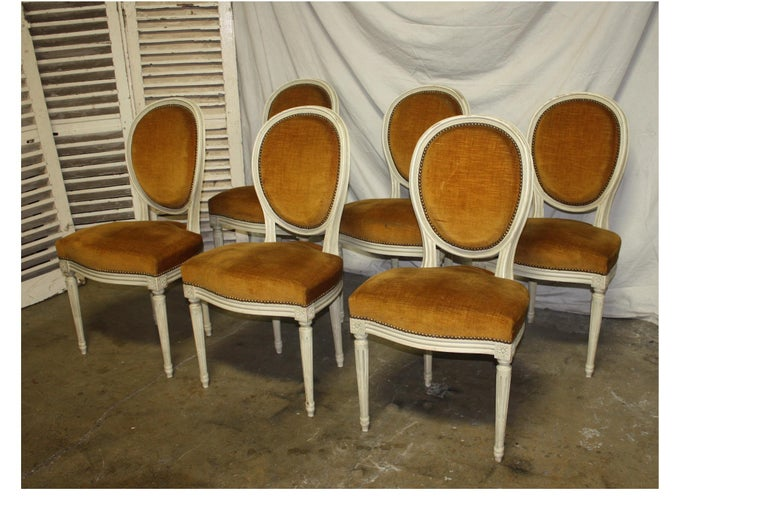 Exquisite Set of Six Louis XVI French Chairs In Excellent Condition For Sale In Atlanta, GA