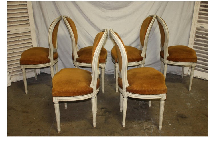 20th Century Exquisite Set of Six Louis XVI French Chairs For Sale