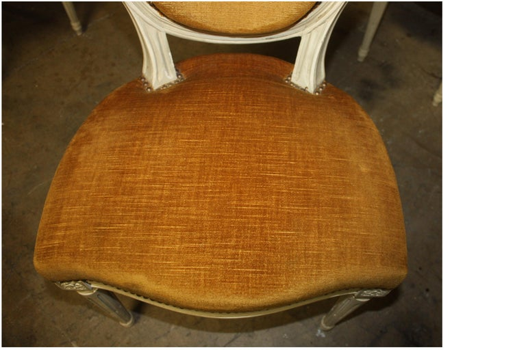 Exquisite Set of Six Louis XVI French Chairs For Sale 3