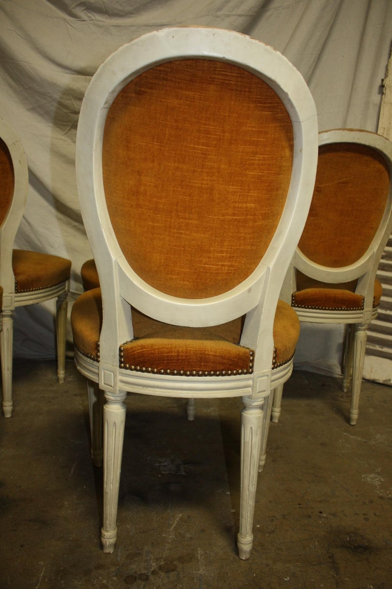 Exquisite Set of Six Louis XVI French Chairs For Sale 6
