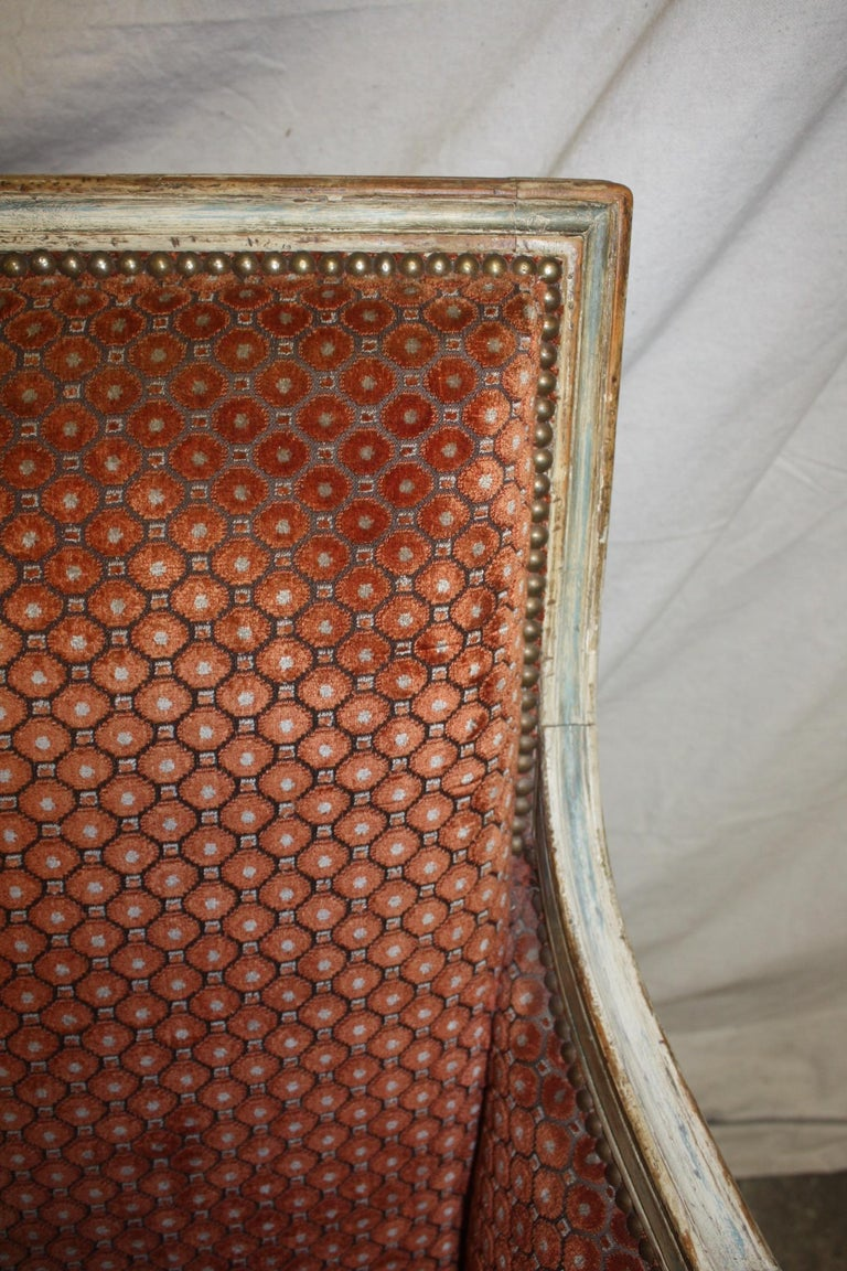 Magnificent Pair of 18th Century French Bergere Chairs For Sale 6