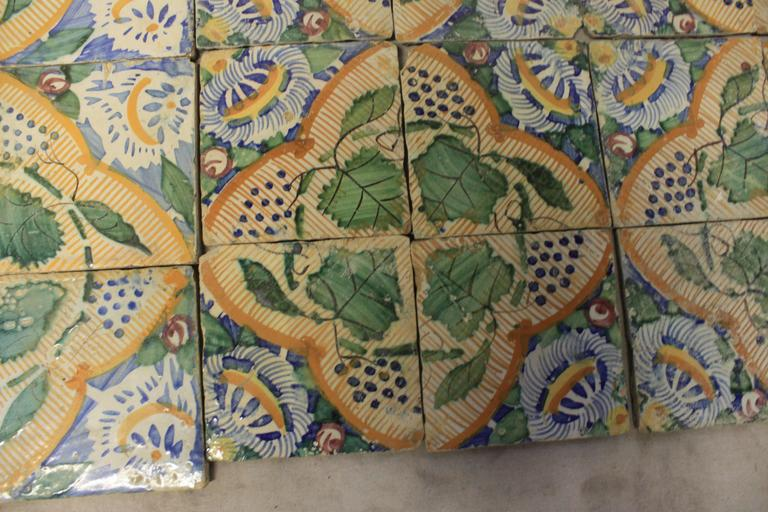 18th Century French Terracotta Tiles For Sale 1