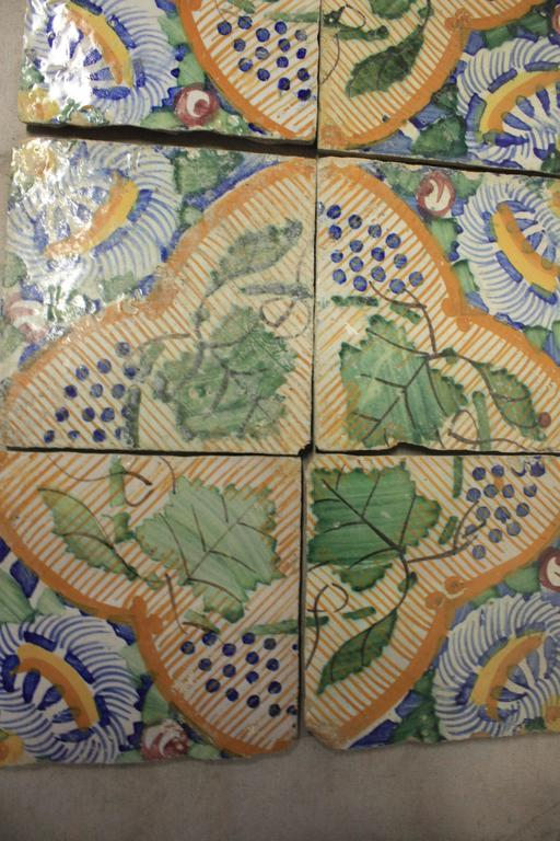 18th Century French Terracotta Tiles For Sale 4