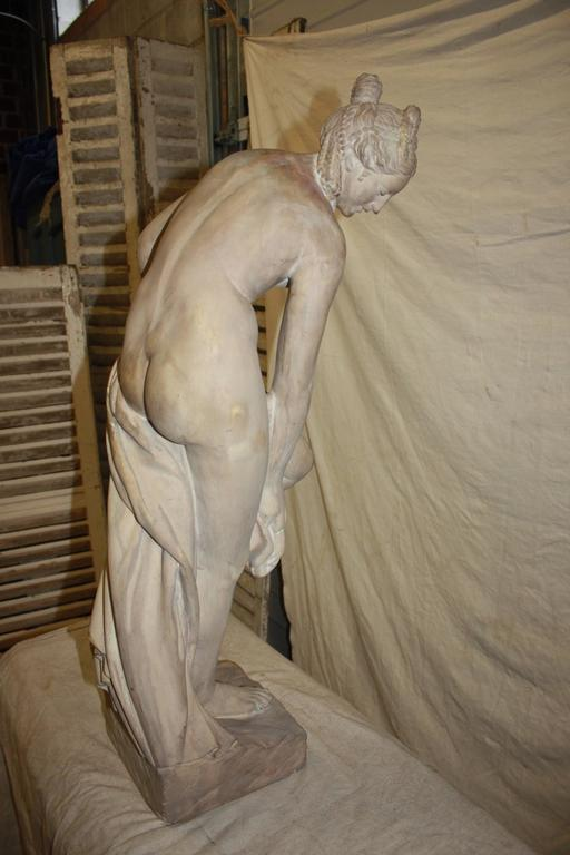 Patinated 19th Century Marble Sculpture For Sale