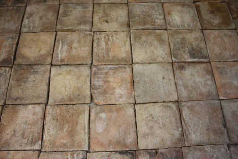 18th Century French Terracotta Tiles For Sale 2