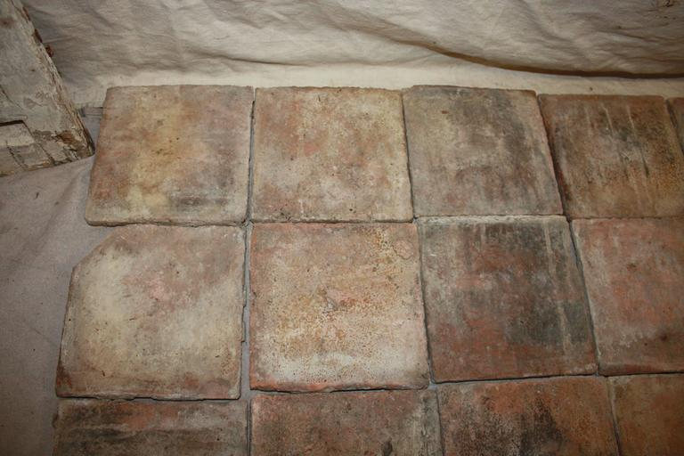 18th Century French Terracotta Tiles For Sale 5