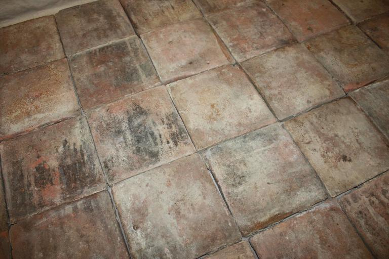 18th Century French Terracotta Tiles For Sale 6