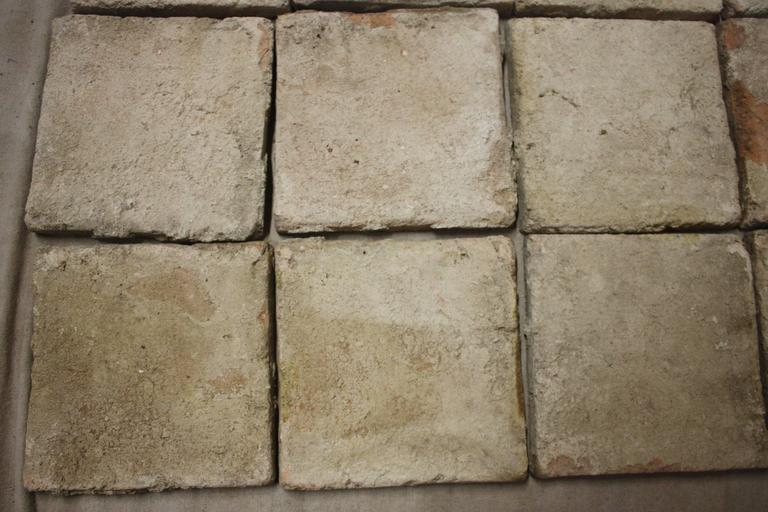 18th Century French Terracotta Tiles For Sale 7