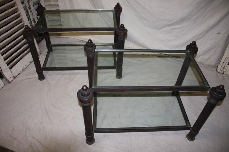 French Beautiful Pair of End Tables For Sale