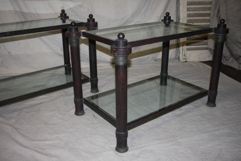 Beautiful Pair of End Tables In Good Condition For Sale In Atlanta, GA