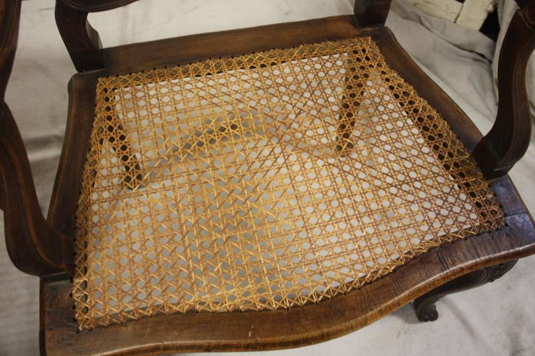 Pair of 18th Century Caned Chairs In Good Condition For Sale In Atlanta, GA