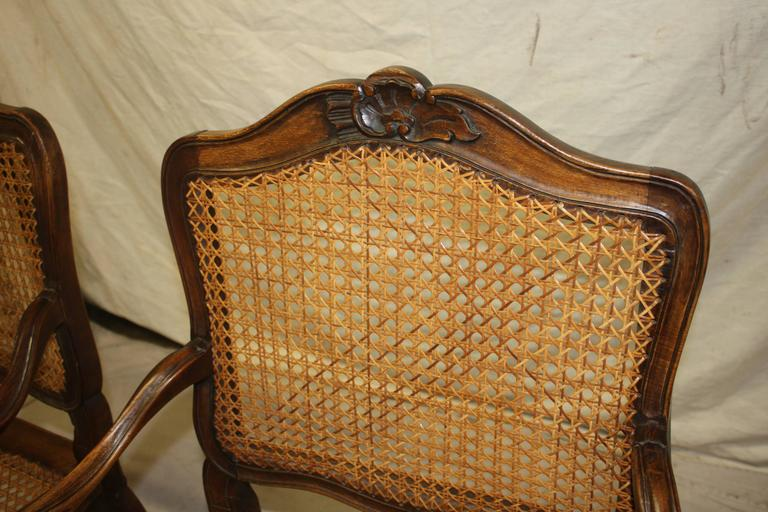 Pair of 18th Century Caned Chairs For Sale 1