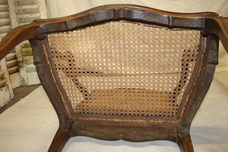 Pair of 18th Century Caned Chairs For Sale 4
