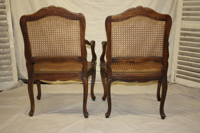 Pair of 18th Century Caned Chairs For Sale 5