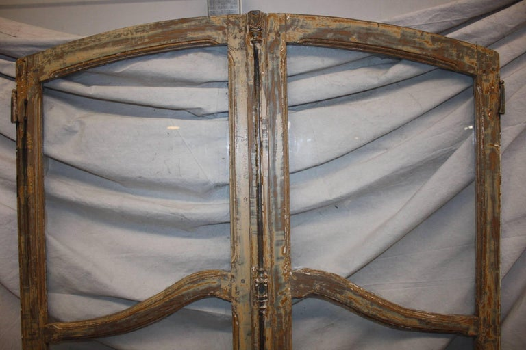 Glass French 19th Century Pair of Doors For Sale