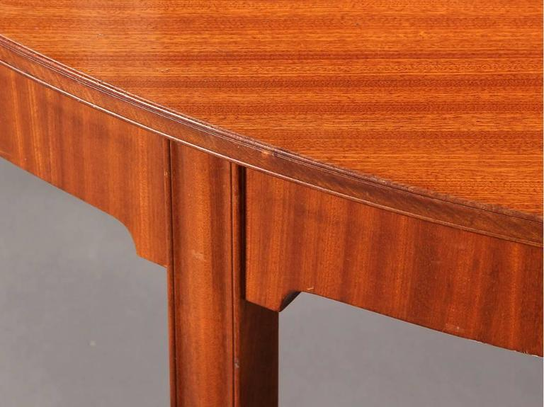 Scandinavian Modern Dramatic 1930s Mahogany Dining Table by Kaare Klint For Sale