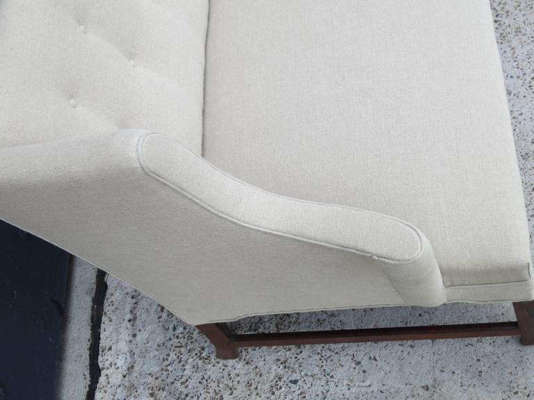 Elegant Camelback Sofa with Brazilian Rosewood Legs by Ole Wanscher 4