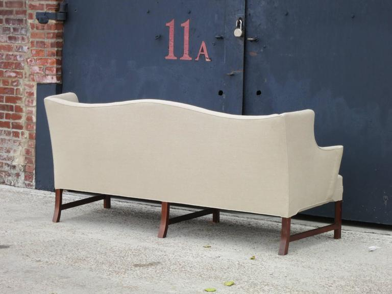 Elegant Camelback Sofa with Brazilian Rosewood Legs by Ole Wanscher 6