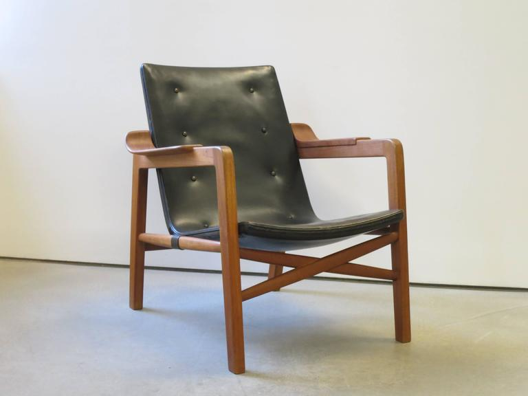 "Danish Group of ""Fireplace Chairs"" with Footstool by Tove & Edvard Kindt-Larsen For Sale"