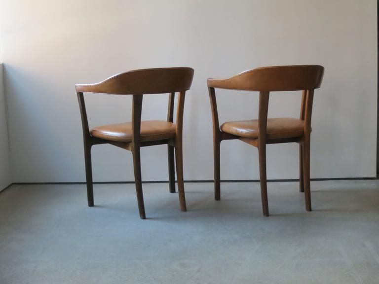 Ole Wanscher, Pair of Armchairs in Brazilian Rosewood and Nigerian Goatskin In Excellent Condition For Sale In New York, NY