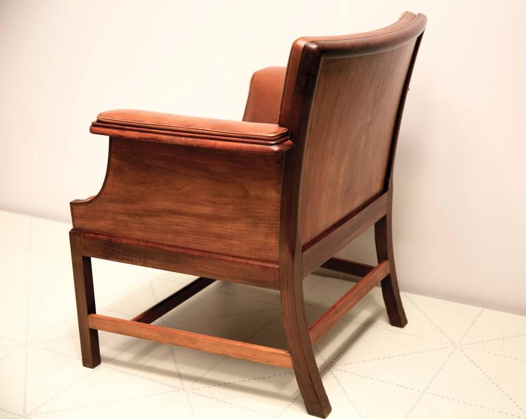 Armchair in Cuban Mahogany by Ole Wanscher In Excellent Condition For Sale In New York, NY