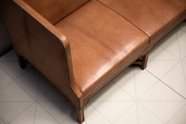 2 1/2 Person Sofa in Nigerian Goatskin on Cuban Mahogany Legs by Kaare Klint 4