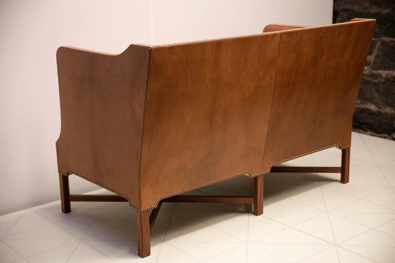 2 1/2 Person Sofa in Nigerian Goatskin on Cuban Mahogany Legs by Kaare Klint 7