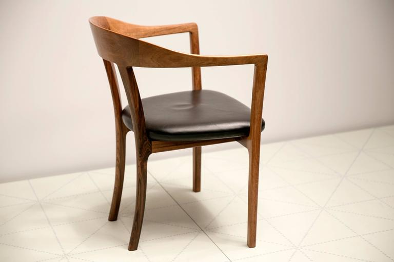 1958 Armchair in Brazilian Rosewood and Original Leather by Ole Wanscher 4