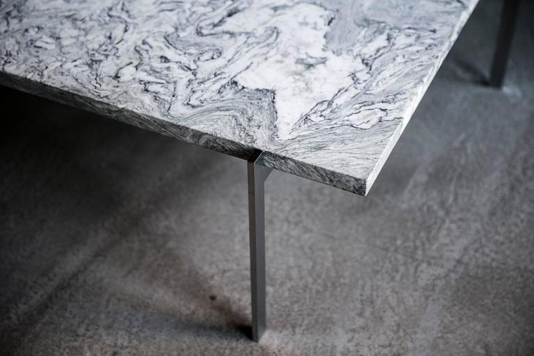 Scandinavian Modern PK 61 Sofa Table in Highly Figured Cipollino Marble by Poul Kjærholm For Sale
