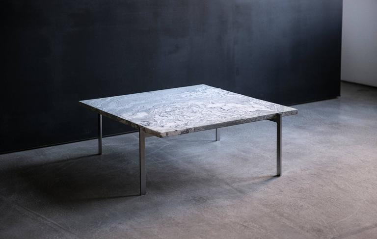 Danish PK 61 Sofa Table in Highly Figured Cipollino Marble by Poul Kjærholm For Sale