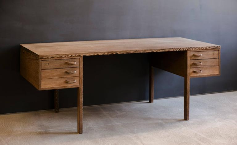 Modernist Freestanding Desk in Wengé Wood by Nanna and Jørgen